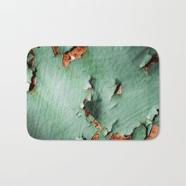 Cool turquoise brown rusty metal Bath Mat