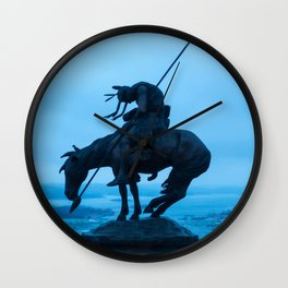 Tired warrior Wall Clock