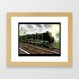 """Lord Nelson"" Antique Steam Locomotive [Digital Drawing] Framed Art Print"