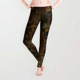 Earth treasures - brown amonite Leggings