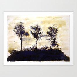 Dean Clough Three (T-h-ree-s) Art Print