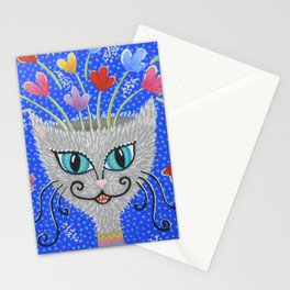 Cat Flowerpot Stationery Cards
