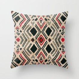 N58 - Traditional African Berber Moroccan Antique Style Artwork Throw Pillow