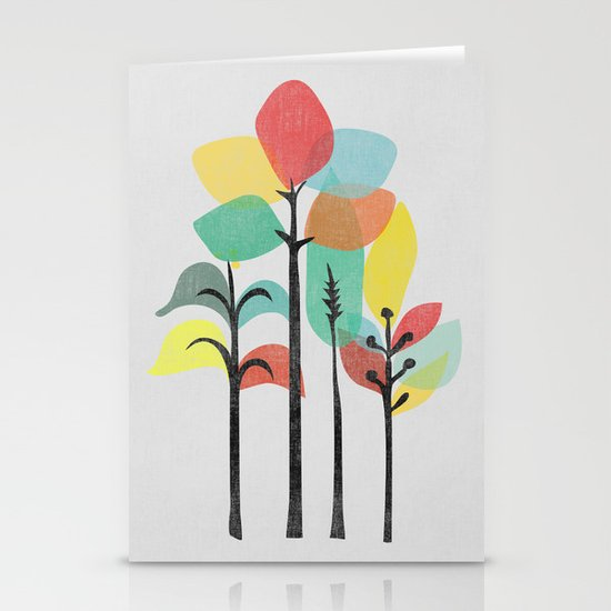 Tropical Groove (gray) Stationery Cards