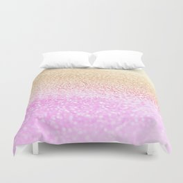 GOLD PINK GLITTER by Monika Strigel Duvet Cover