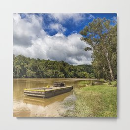 Pontoon on the Barron River Metal Print