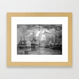 Civil War Ships of the United States Navy Framed Art Print