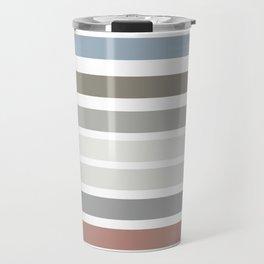 Modern line colorful design Travel Mug