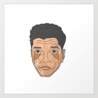 bruno mars Art Prints featuring Bruno Mars by Λdd1x7