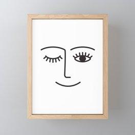 Wink Framed Mini Art Print