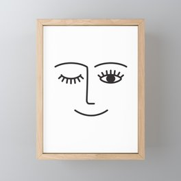 Wink Framed Mini Art Print