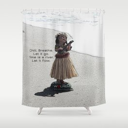 Wolfen Hula Babe Shower Curtain