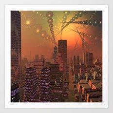 Spherople Alien City Art Print