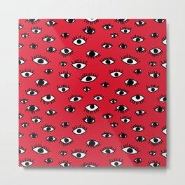 Shifty Eyes Metal Print