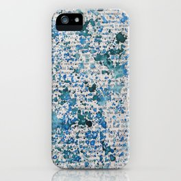 Blue and Emerald Splatter iPhone Case