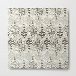 lotus diamond linen Metal Print