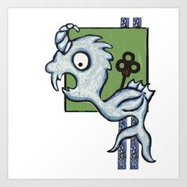 Kraken's Cousin Art Print