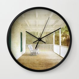 Empty Chairs Wall Clock