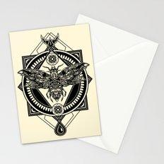 Zodiac Moth Light Stationery Cards
