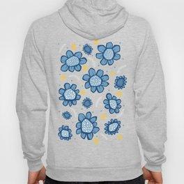Pop Flowers blue Hoody