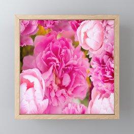 Large Pink Peony Flowers #decor #society6 #buyart Framed Mini Art Print