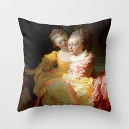 "Jean-Honoré Fragonard ""Two sisters"" Throw Pillow"