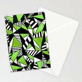 Geometric Green Stationery Cards