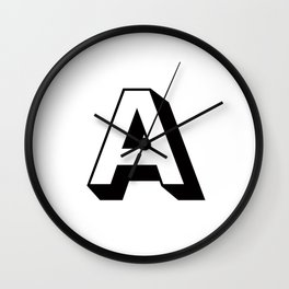 Letter A ... As Easy As... Wall Clock