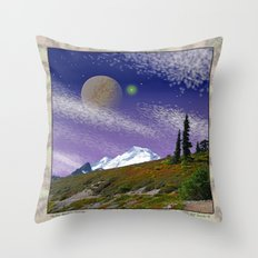 ON THE TRAIL TO DISTANT WORLDS Throw Pillow