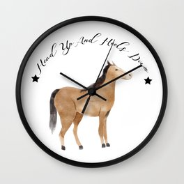Head Up And Heels Down Gifts Horse Lovers Racing Wall Clock