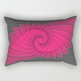 hypnotized - fluid geometrical eye shape Rectangular Pillow