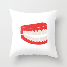 DARVEE - Sourire Throw Pillow