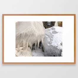 Frozen Stones Framed Art Print