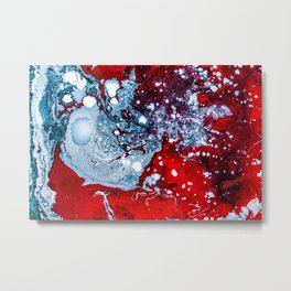 Red and Blue Texture (Color) Metal Print