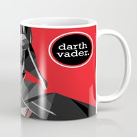 darth vader Mugs featuring darth vader by daydreamer89