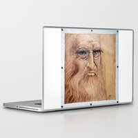 da vinci Laptop & iPad Skins featuring Leonardo Da Vinci by Michael Cu Fua