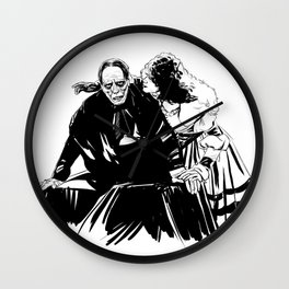 The end of the ghosts love story Wall Clock