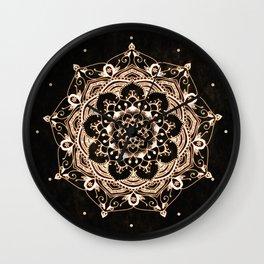 Glowing Spirit Black White Mandala Design Wall Clock