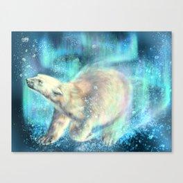Floating polar bear Canvas Print
