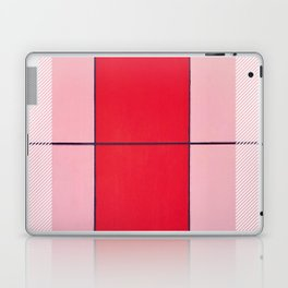 August - thin line graphic Laptop & iPad Skin