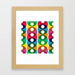 Geometric Pattern #64 (colorful bubbles) Framed Art Print