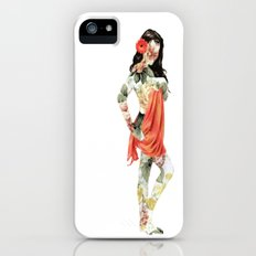 Floral Pin Up Girl iPhone (5, 5s) Slim Case