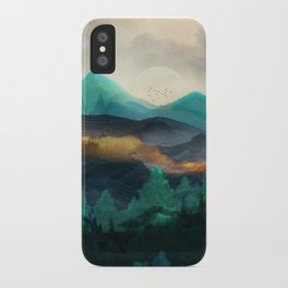 Green Wild Mountainside iPhone Case
