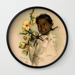 African Girl Maud Humphrey Wall Clock