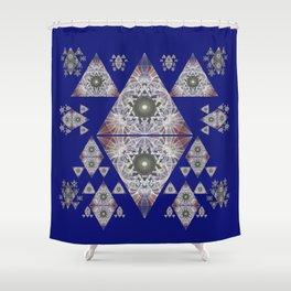 Oceanic Healing Sacred Geometry Meditation Art Print Shower Curtain
