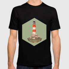 The Lighthouse Mens Fitted Tee Black MEDIUM