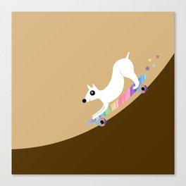 Skate dog Canvas Print