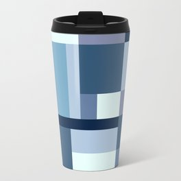 Abstract #387 Blue Harmony Travel Mug