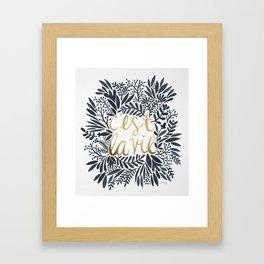 C'est la Vie – Grey & Gold Framed Art Print