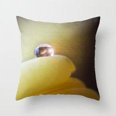 Yellow tear Throw Pillow